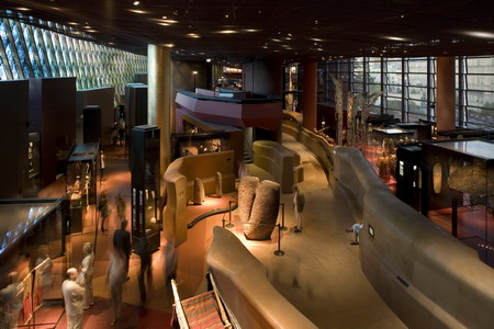 Interior view of the Musee du quai Branly