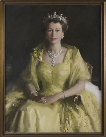 William Dargie's 'Wattle Queen' portrait
