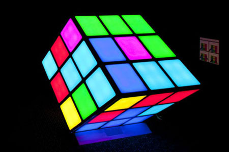 Image of large Rubik's Cube