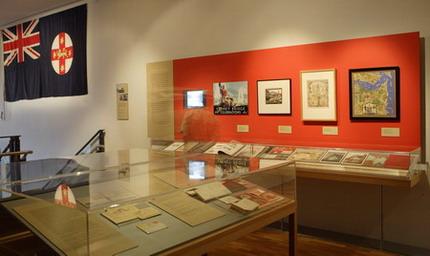 Foyer of Bridging Sydney exhibition