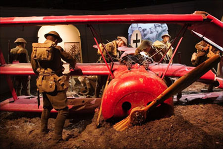 Australian troops loot both Baron von Richtofen's aeroplane and his body in one of Omaka's larger set pieces.