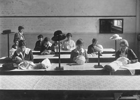 Millinery class for war widows