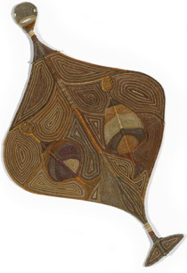 Yawkyawk mother weaving by Anniebell Marrngamarrnga