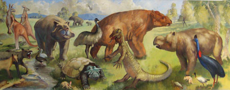 Fig. 4. Second mural for the Geology Museum at UQ by Quentin Hole and Don Cowen (1952)