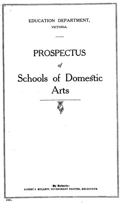 Fig. 7. Cover of the Prospectus of Schools of Domestic Arts, about 1920