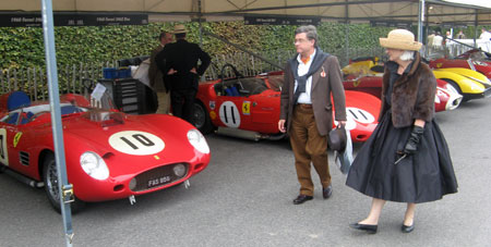 The combination of stylish historical dress and impeccably maintained cars suggests reasons for Goodwood Revival's appeal