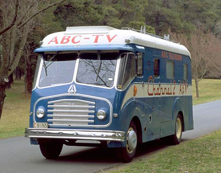 Morris Model FE Pye outside broadcast van used by ABC Television from 1956 (including the Melbourne Olympics) to 1974
