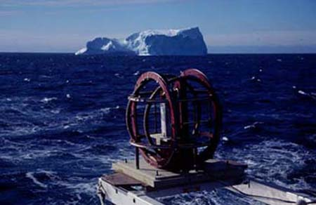 Image of part of the fluxgate magnetometer Charlie Barton used to locate the South Magnetic Pole, 2000
