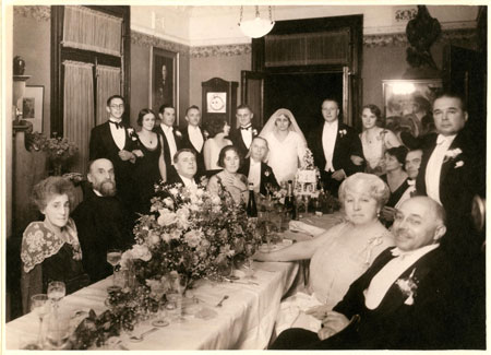 Wedding of Grete Schneider and Werner Glockemann 'Glenferrie', Sydney, 7 December 1929