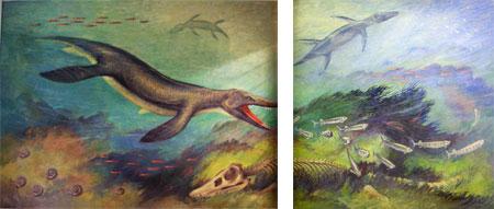 Fig. 5. Quentin Hole, Kronosaurus queenslandicus, 1958, oil on concrete