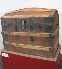 Wood and iron travelling trunk