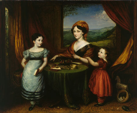Portrait of Mrs Darling and Two of her Children 1825
