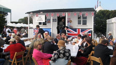 The Victory Tea Rooms reinforces the centrality of the Second World War to Goodwood's identity