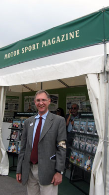 The author at Goodwood Revival, in costume