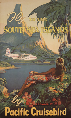 South seas brochure with flying boat