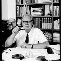 Ronald Berndt at desk photograph