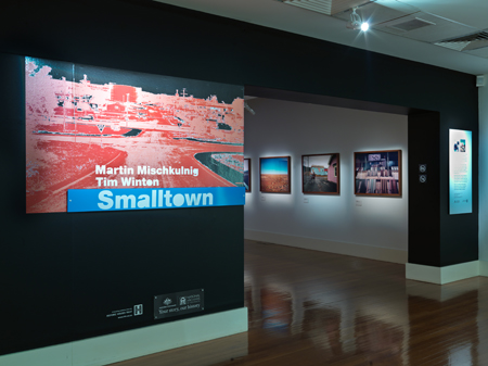 Entry wall of Smalltown exhibition at the National Archives of Australia, Canberra