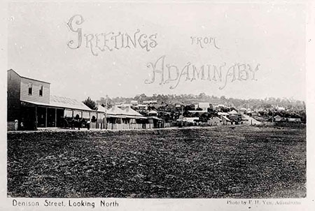 'Greetings from Adaminaby': Denison St, Adaminaby, looking north