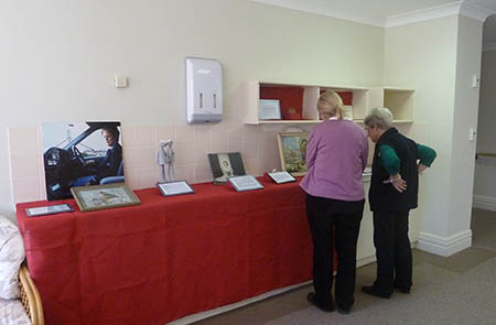 Residents' objects on display in the Important to Me exhibition, Carey Gardens, 2013
