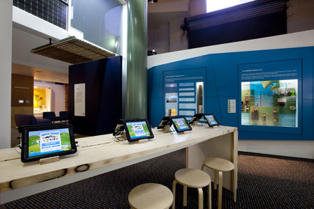 Interactive iPad lab in the EcoLogic exhibition