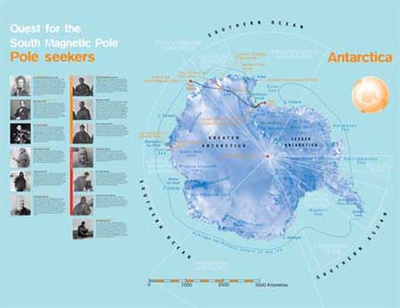 Map of Antarctic exploration