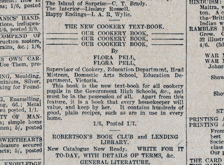 Fig. 10. This is the advertisement that appeared in The Argus on 8 July 1916, page 6