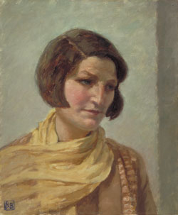 The yellow scarf by Rupert Bunny