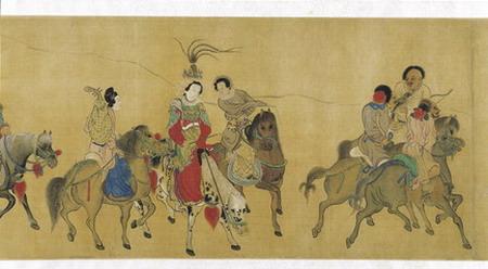 Painted handscroll, 'Zhaojun travels beyond the Wall', Qing Dynasty