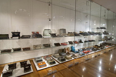 One man's treasure: an eclectic collection of typewriters on display in the exhibition, From A to Z: Robert Messenger's Typewriters